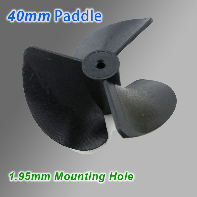 40mm, 1.95 Mounting Hole Paddles, Model Boats Accessories, DIY Toy Accessories.(China (Mainland))