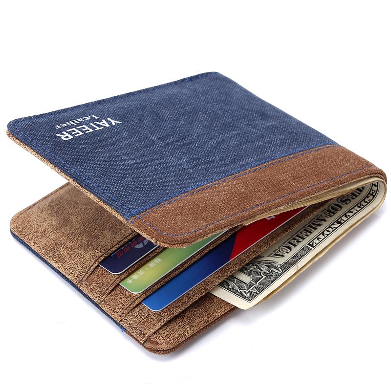 Famous Brand 2016 New Arrive Canvas Male Wallet Vintage Men Clutch Horizontal Money Bags Denim Purse Fashion Carteira Masculine<br><br>Aliexpress