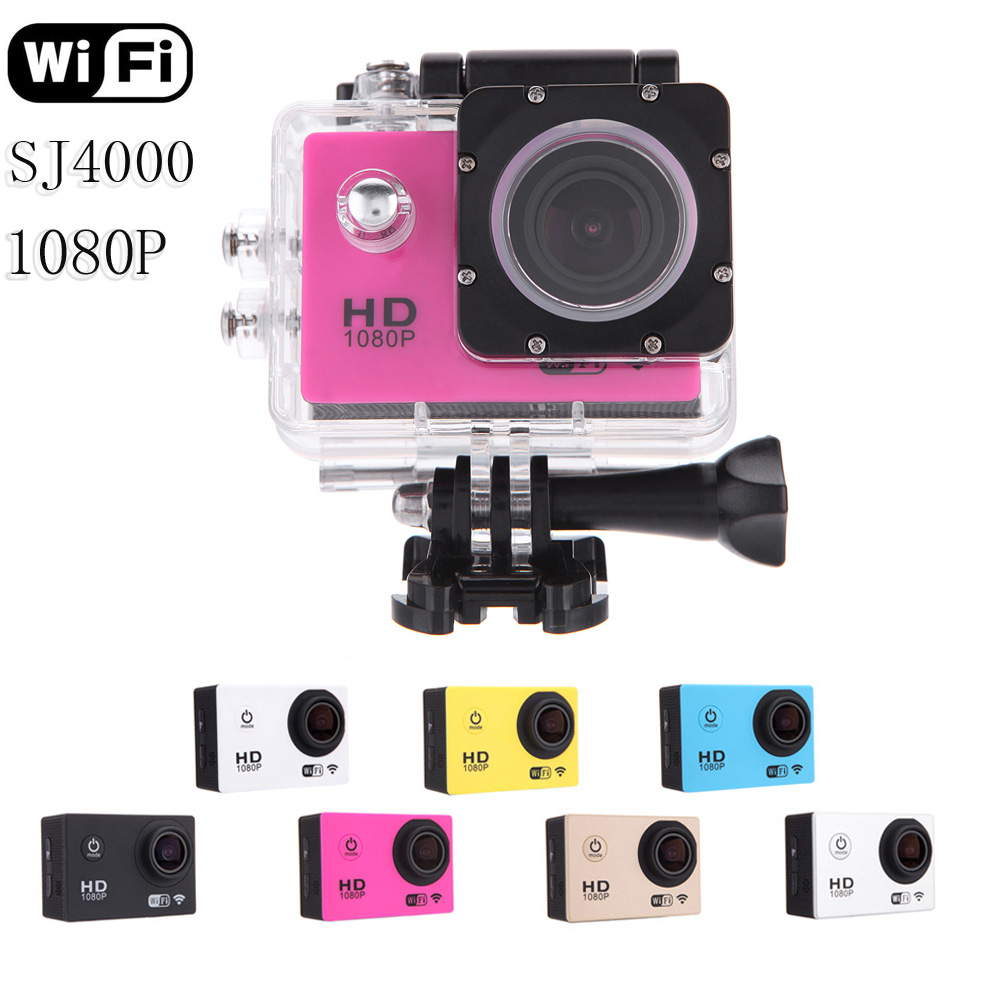 SJ4000 WiFi Sport Action Camera 1080P Full HD Helmet Camcorder Diving 30M Waterproof Underwater Sport DV with Battery(China (Mainland))