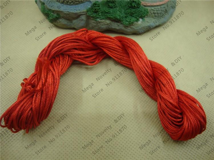 Free Shipping(10pcs 28meters/pcs) red 1mm Chinese Knot Beading Chinlon Nylon Taiwan Cord Polyamide Yarn Knit DS206-6(China (Mainland))
