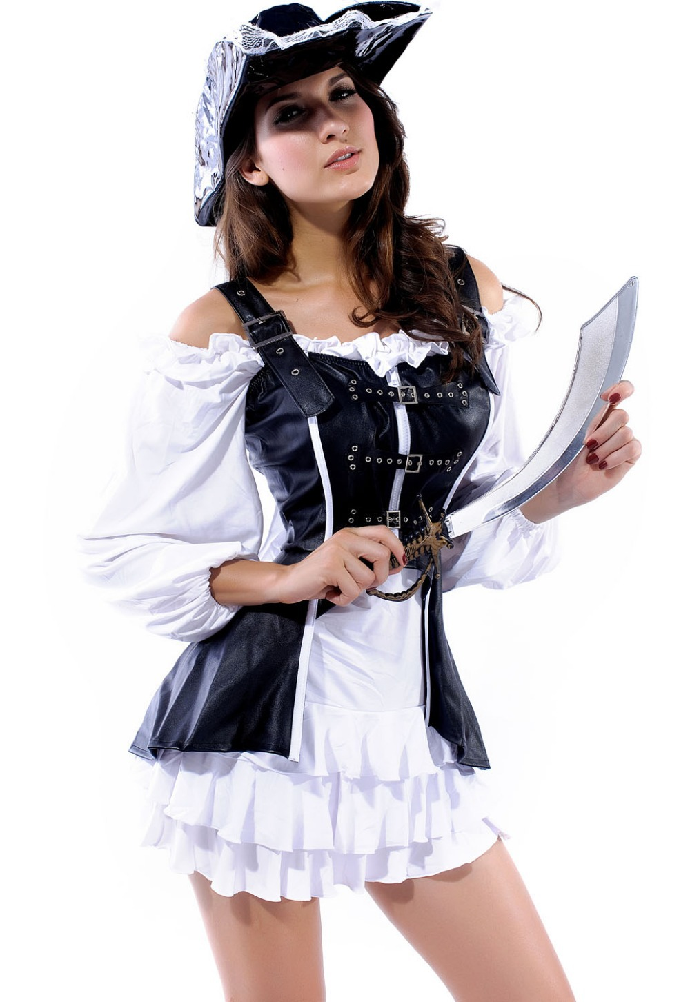 Pink And Black Womens Pirate Costume Sexy Pirate Women Costume
