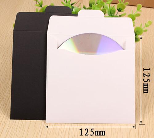 12.5*12.5cm Kraft Paper CD Sleeve Discs DVD Case Envelope Retail Packaging Packing Bag Holder Wedding Party Supply