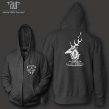 Game of thrones family baratheon ours is fury men unisex zip up hoodie heavy hooded sweatershirt cotton with fleece inside(China (Mainland))