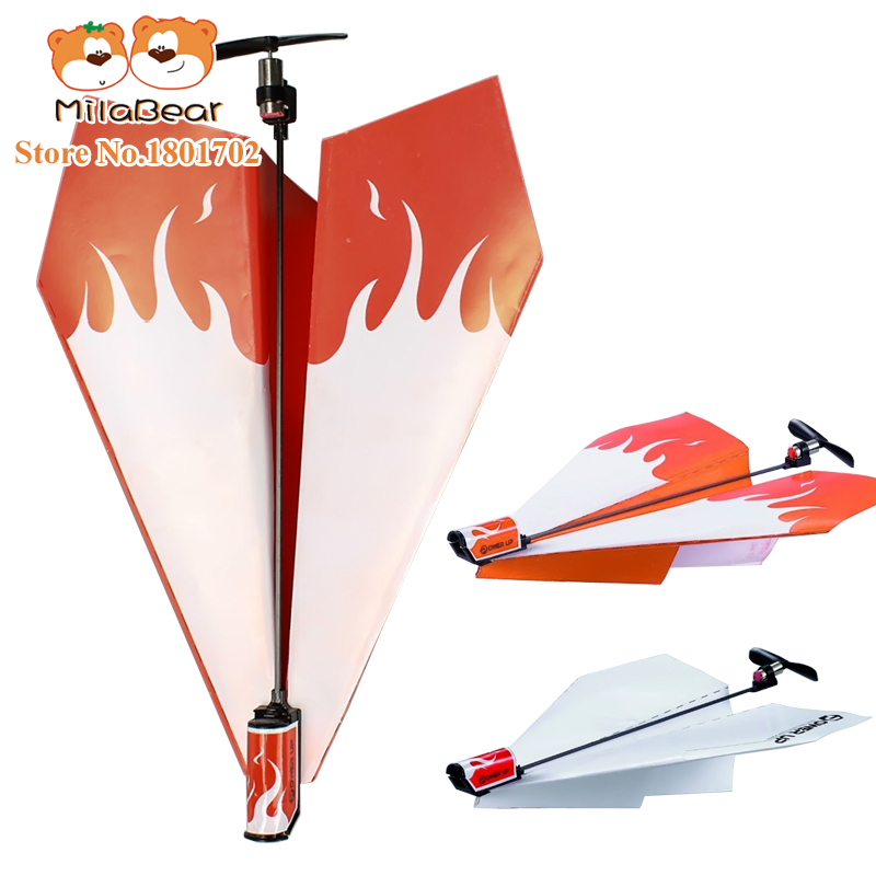 Flying Power up Propeller Model Gliders Electric paper plane aircrafts airplane Aviones Conversion Kit Kids DIY Educational Toys<br><br>Aliexpress