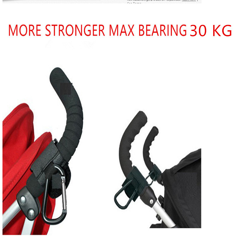 Free Shipping Max Bearing (single) 15 KG Baby Stroller Hook Stroller Accessories Pram Hooks Hanger for Baby Car Carriage Buggy(China (Mainland))