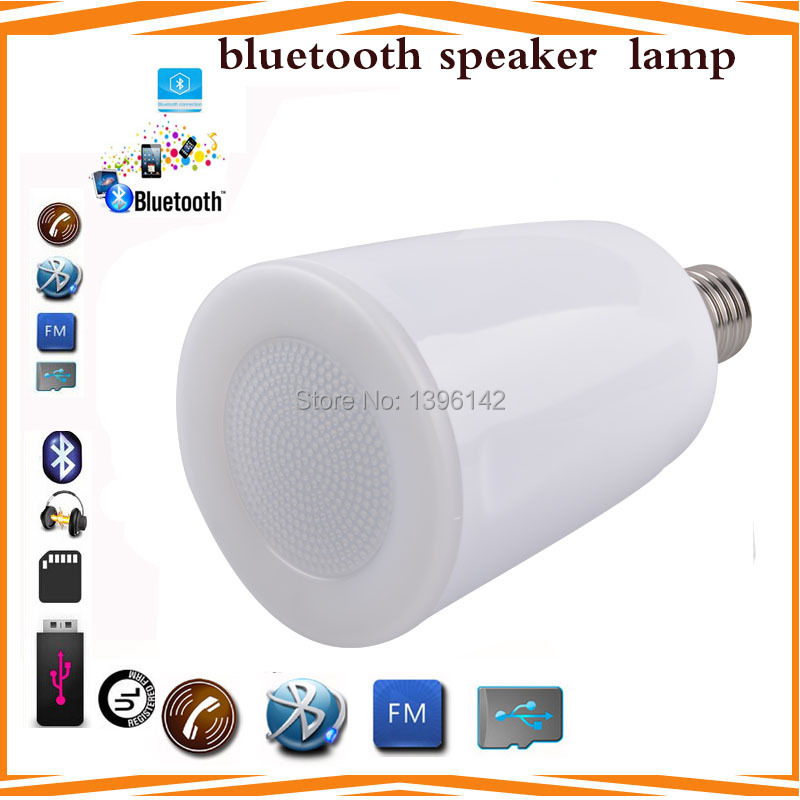 FREE Shipping 5w Bluetooth Speaker LED Lamp Music Bulb LED Bulb New Year gift LED product Christmas Lights,two Pcs a LOT(China (Mainland))
