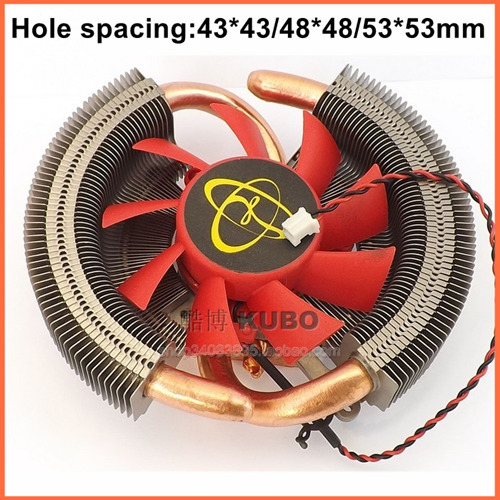 Supporting Multi-platform pure copper 43/48/53mm hole spacing A/ N Video graphics card fan cooler heat sink heat pipe<br><br>Aliexpress