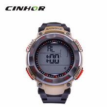 Relogio Mens Masculino SYNOKE grande Dial moda Casual reloj deportivo Digital reloj natación impermeable de Color marrón de oro