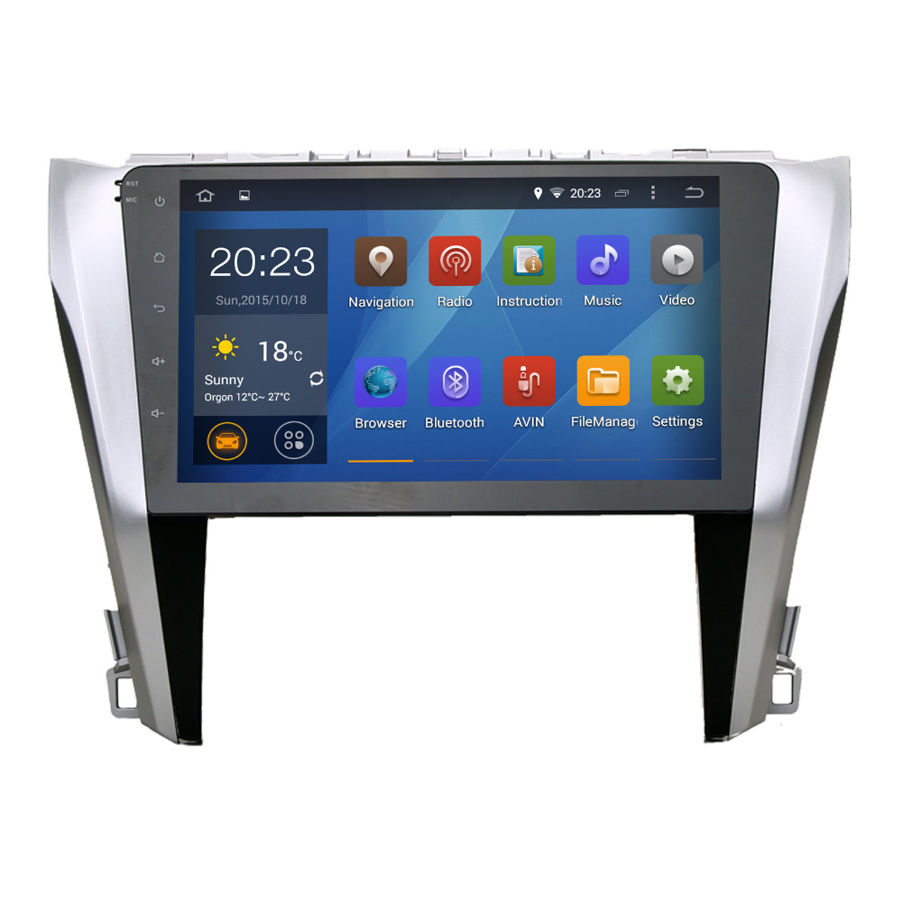 Quad Cord Android 4.4.4 GPS for Camry 2015 stereo multimedia headunit Radio WiFi NAVI 1024*600 screen free map(China (Mainland))
