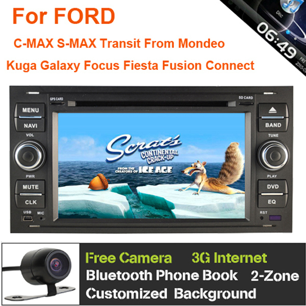 3g dvd de voiture gps navi headunit pour ford focus fiesta galaxy s max c max fusion transit. Black Bedroom Furniture Sets. Home Design Ideas