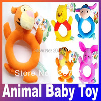 Free Shipping 1PC Cute Cartoon Animal Model Baby Infant Puppet Handbell Kids Plush Toy