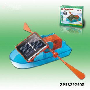 Free Shipping educational Puzzle DIY creative solar powered boat rowing toy DIY children toy(China (Mainland))