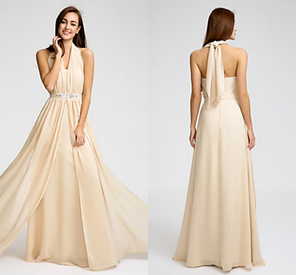 2016 long cheap custom made bridesmaid dresses champagne for Wedding dress sizes compared to normal sizes