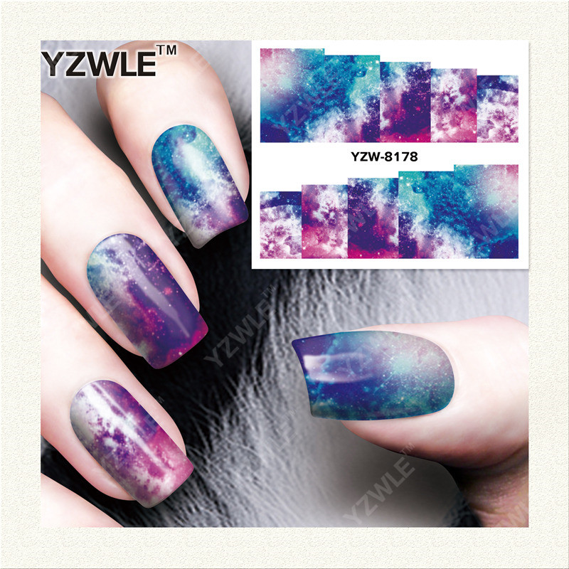 YZWLE 1 Sheet DIY Decals Nails Art Water Transfer Printing Stickers Accessories For Manicure Salon YZW-8178(China (Mainland))