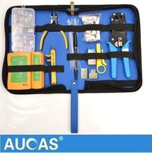 Aucas Высокое Качество Ethernet Кабель инструмент RJ11 RJ45 Cat5 Cat6 Сетевой Кабель Обжимной Щипцы клещи инструмент набор комплект(China (Mainland))
