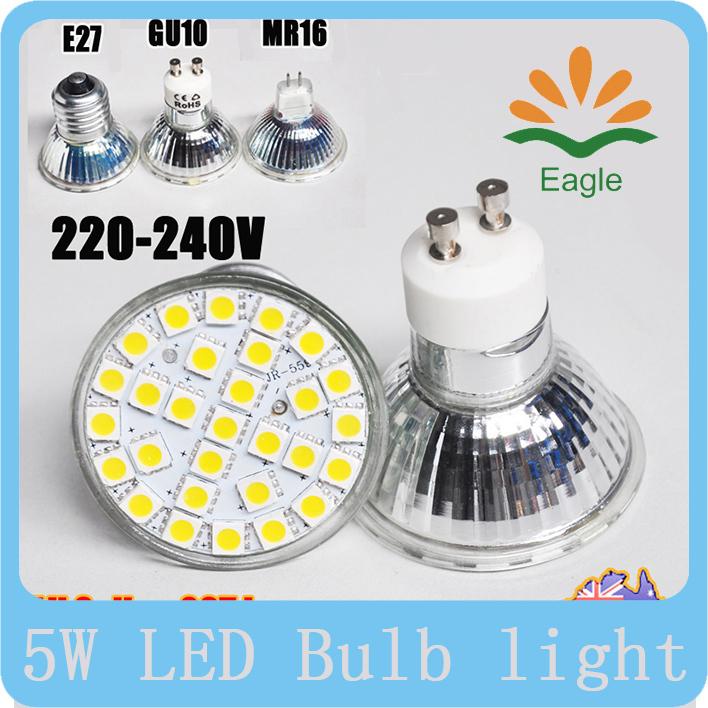 GU10 led 5w sconces chandelier uv light bulbs led zepland table lamp 29pcs smd 5050 white warm white(China (Mainland))