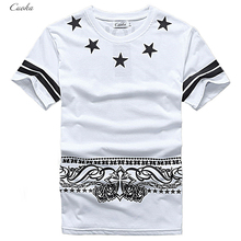 Cuoka Brand Hip Hop Pyrex T-Shirt 09 Star Printed T shirt Men HBA Cashew Rock T-shirts For Skateboard Swag Tops&Tees Size M-XXL