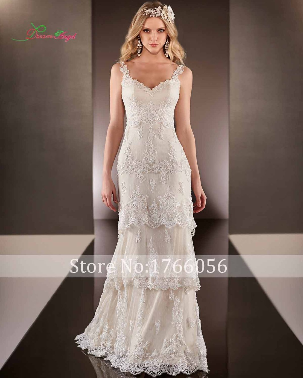 New Fashionable Dependent Tiered Mermaid Wedding Dre...