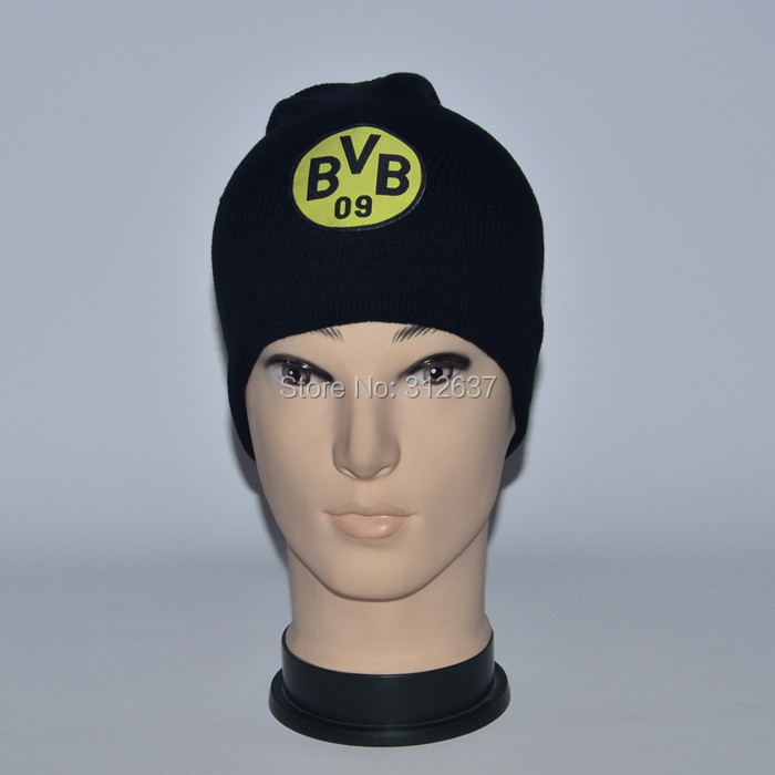 wholesale 26 team can mixed borussia dortmund football winter black caps BVB 2015 knitted hat champions league soccer(China (Mainland))
