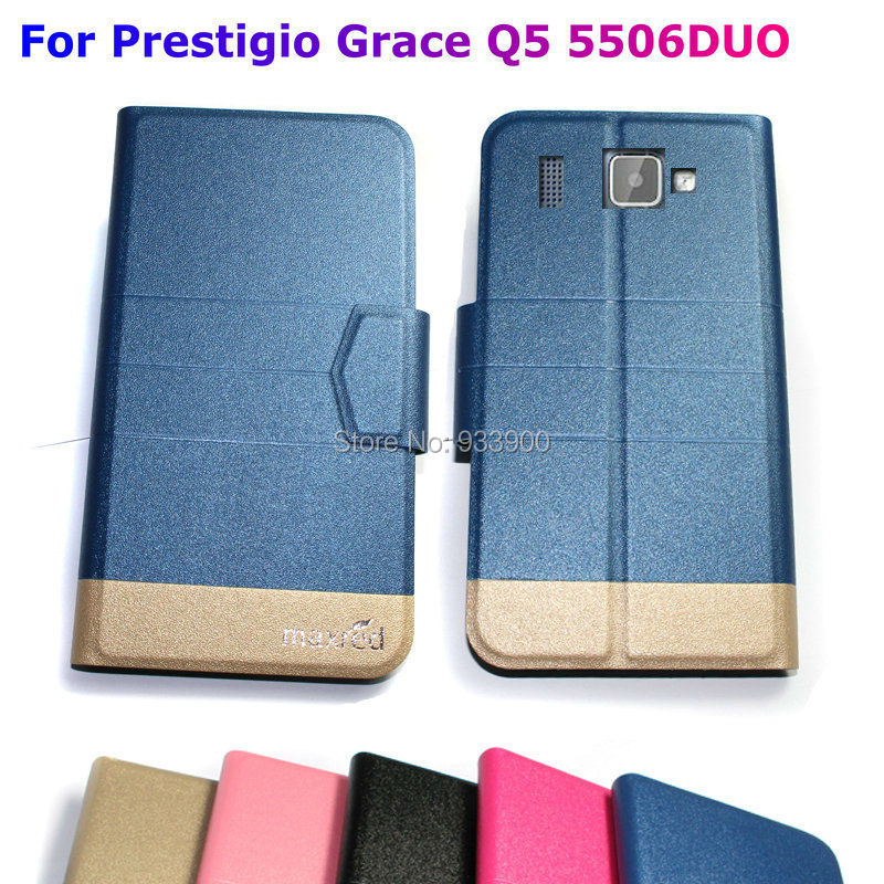 For Prestigio MultiPhone Grace Q5 PSP5506DUO / Ultra Thin Hot Luxury Fashion PU Leather Protection Case Cover / You choose color(China (Mainland))