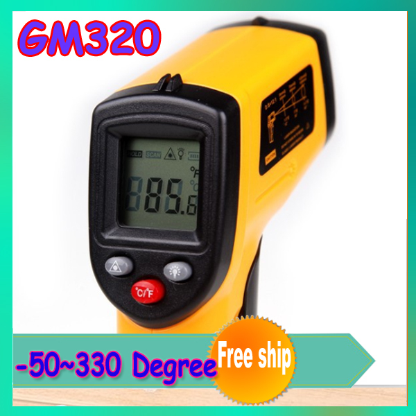 1Pc GM320 Non-Contact Laser Point -50~330 Degree LCD Display Digital IR Infrared Thermometer Temperature Meter Gun  wholesale<br><br>Aliexpress