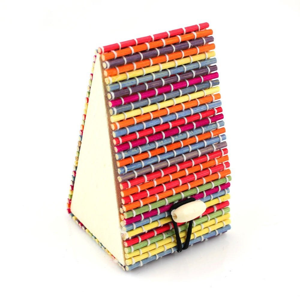 Min Order $5 2014 New Multicolor rainbow Bamboo gift box jewelry Case vintage High Quality Display Boxes Wholesale free shipping(China (Mainland))