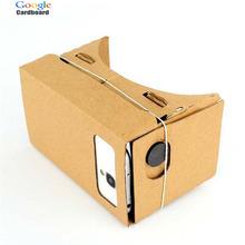 Best DIY Google Cardboard 1.0 3D Glasses Virtual Reality VR for Mobile Phone Max 6 inch Screen Gafas Virtuales Oculus Rift