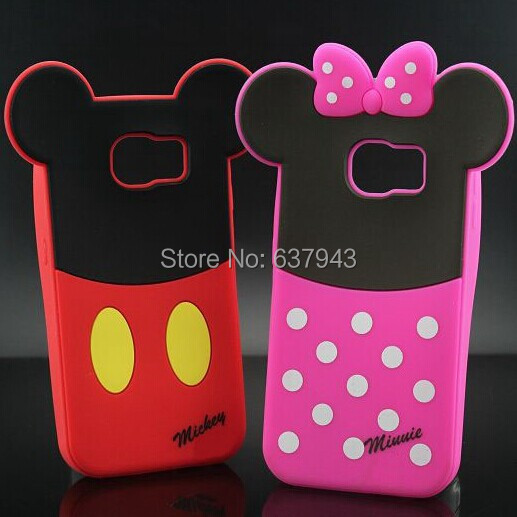Hot!!! Mickey Minnie Mouse Sulley Alien Donald Duck Daisy Character Soft Rubber Case Cover For Samsung Galaxy S6 G920 G9200(China (Mainland))
