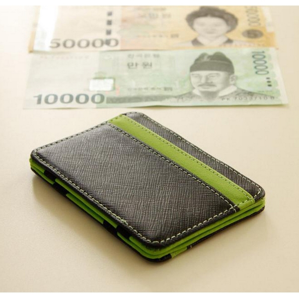 New Fashion Men Wallets Business/Casual Style Short Bags Personality Money Clip Patchwork Card Small Holders Male Magic Wallet(China (Mainland))