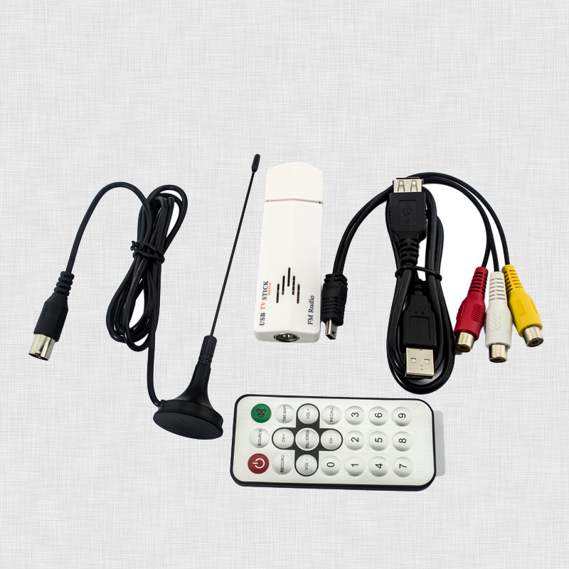 Global Analog Tv Tuner Usb TV Receiver For Pc Computer DVD VCD With Antenna Cable Remote Controller UATS01G-P56(China (Mainland))