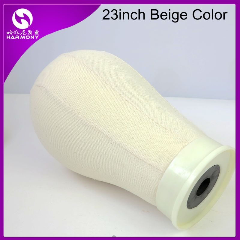 STOCK 1 piece 23inch Off-white beige color Canvas Block Head for wig making Poly Mannequin Foam Head<br><br>Aliexpress