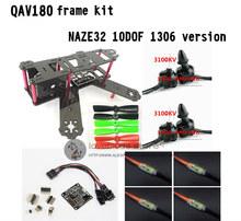 DIY FPV mini drone QAV180 / ZMR180 cross race quadcopter pure carbon frame kit NAZE32 10DOF 1306 3100KV motor BL 6A ESC OPTO