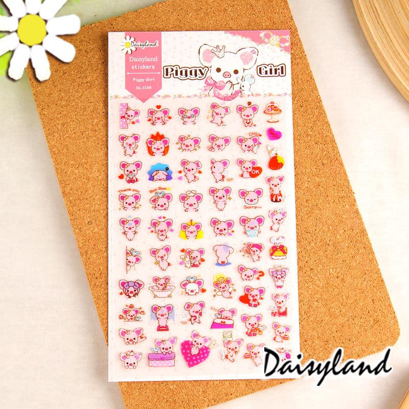 [Daisyland] Korean Green sticker pocket diary Deco sticker PiggyGirl1138<br><br>Aliexpress