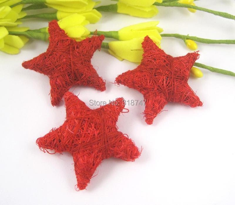 40mm Rope weaving Star Shape DIY Craft Christmas decoration 2pcs/lot 042001(China (Mainland))