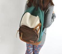 New 2014 women backpack Women's Colorful Canvas Backpacks women Girl kids Student children School backpacks Travel bags mochila(China (Mainland))