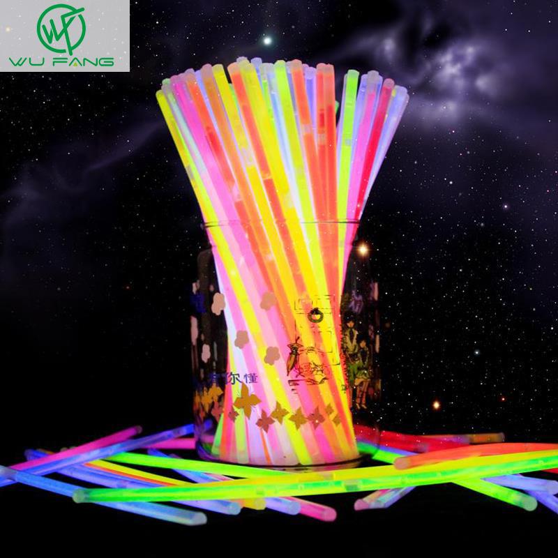 "New Fashion 50 Pcs 8"" Mix Glow Stick Creative Design Safe Glow Stick Light Necklace Event Festive Party Supplies(China (Mainland))"