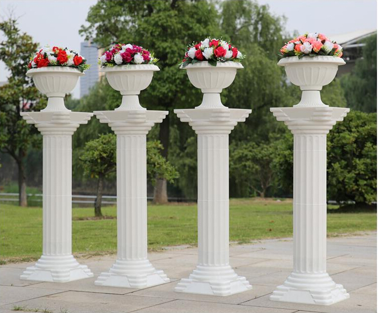 Fashion 2016 Decorative Roman Columns White Color Plastic