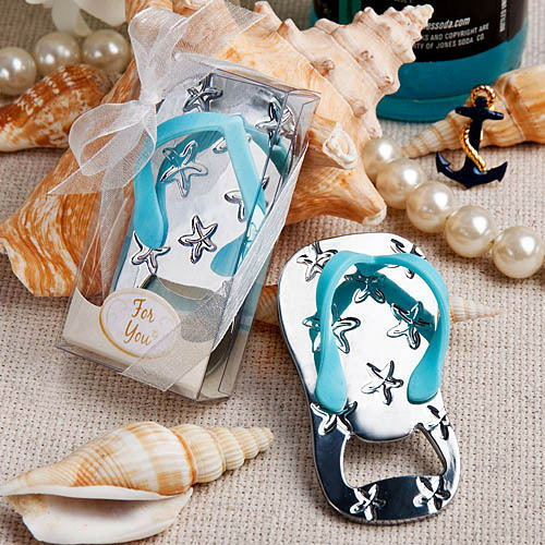 wedding giveaways and gift-- Flip flop wine bottle opener with starfish design 10PCS/LOT wedding favor guest gift(China (Mainland))