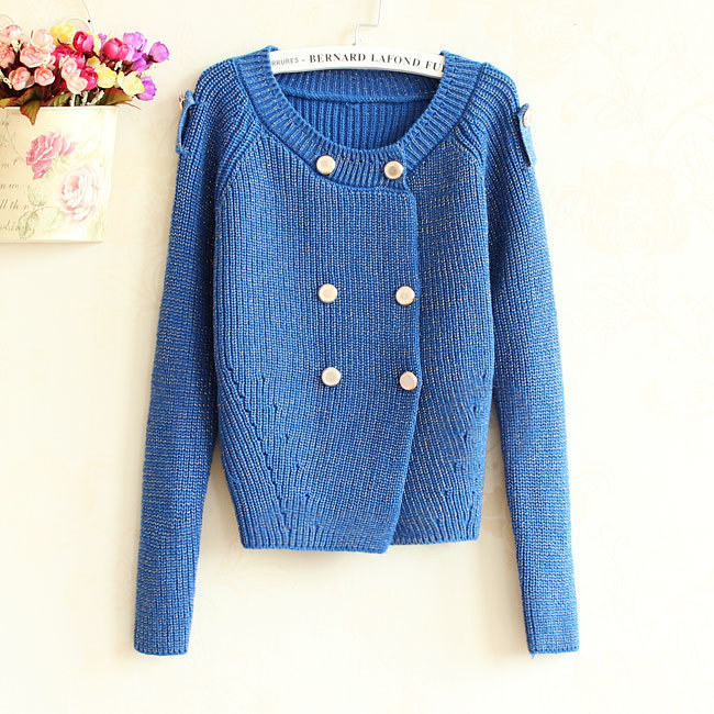 new 2014 cardigan women brand design long sleeved double