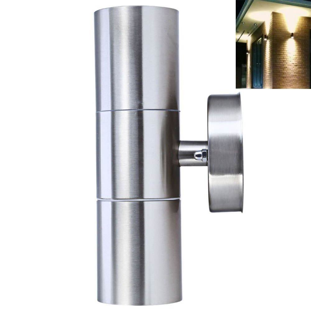 Super bright ip65 stainless steel 10w led outdoor garden for Exterior up and down lights led
