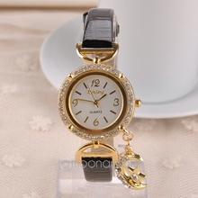 Luxury Brand Watch Women Rhinestones Moon Pendant Watches Female Dress Quartz Wrist watch digital watch FYMPJ632