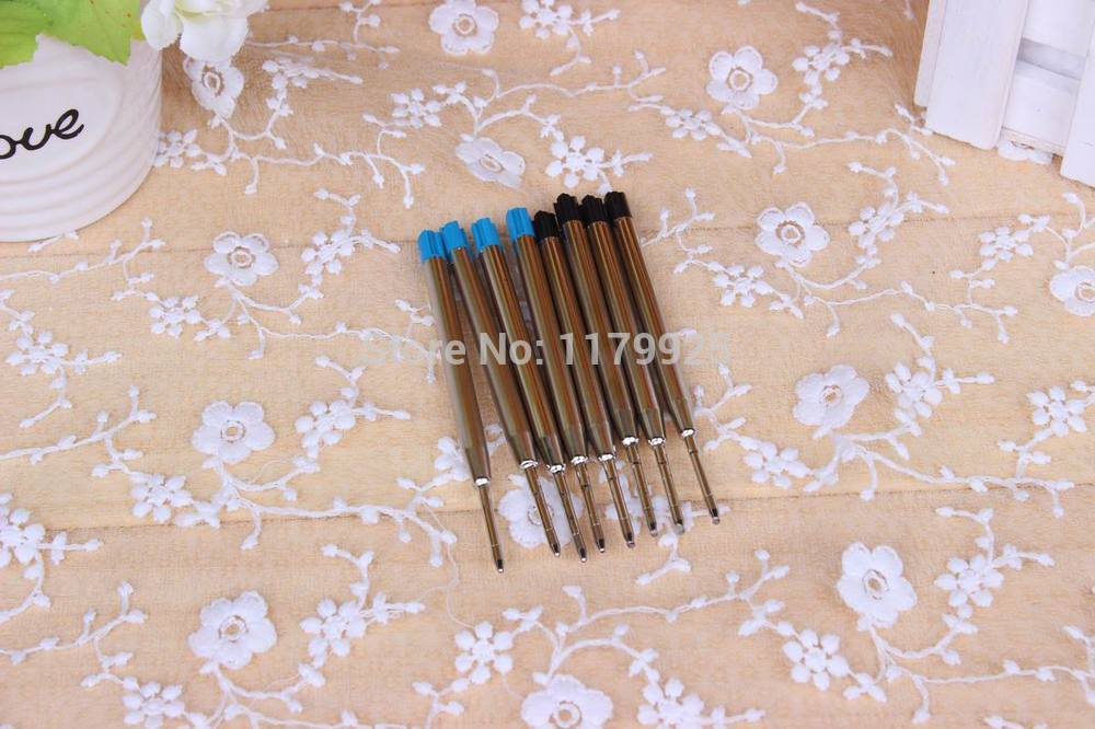 6 PCS Blue Parker Stytle Ballpoint pen Refills 9.9CM(China (Mainland))