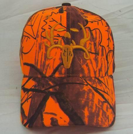 2015 Cotton Underwood Cap Orange Hunter Hunting Fishing Hat Cap Adjustable Camo Camouflage Outdoor Hats Free shipping(China (Mainland))