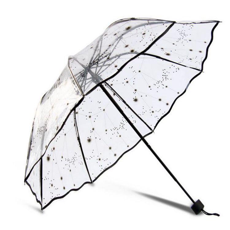 Transparent sunny umbrella transparent umbrella girls(China (Mainland))