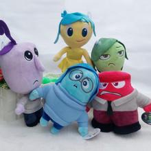 5pcs/set 2015 Pixar Movie Inside Out Plush - Anger Joy Fear Disgust  Sadness Stuffed Doll Toy 23CM(China (Mainland))