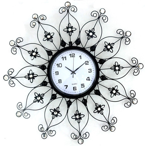 Large living room wall clock quieten fashion watches clocks wrought iron brief modern personality - IKEA HOME store