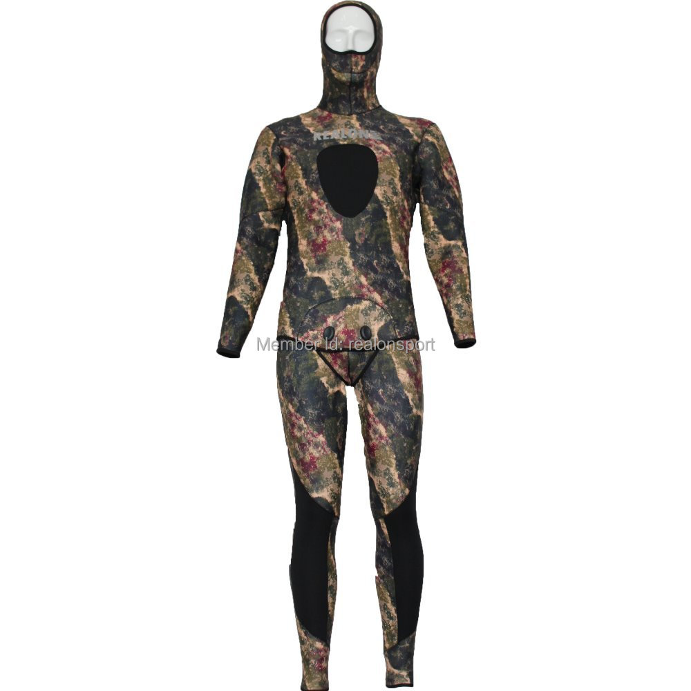 5mm CR neoprene camo wet suit spearfishing diving suit(China (Mainland))