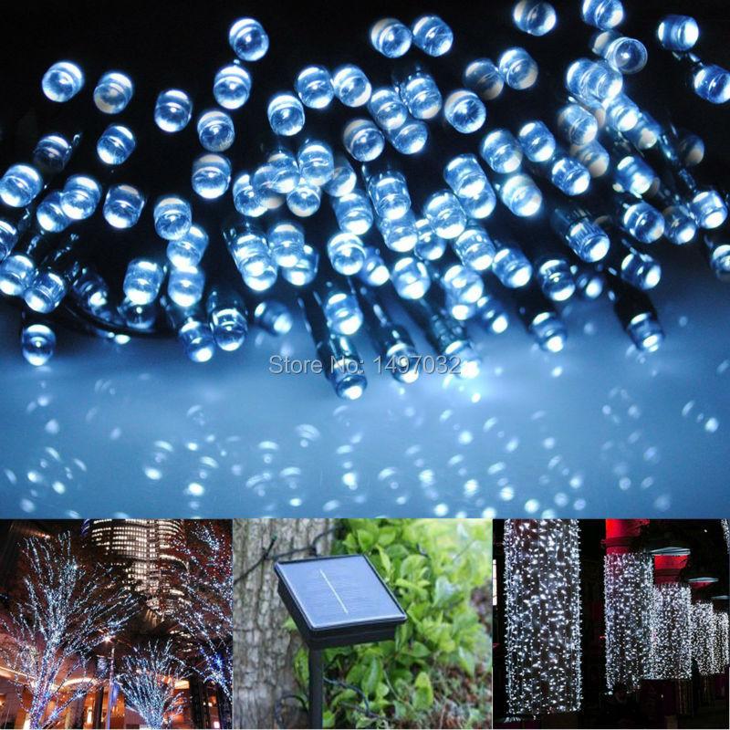 iluminacao jardim led solarSolar Powered Garden String Lights