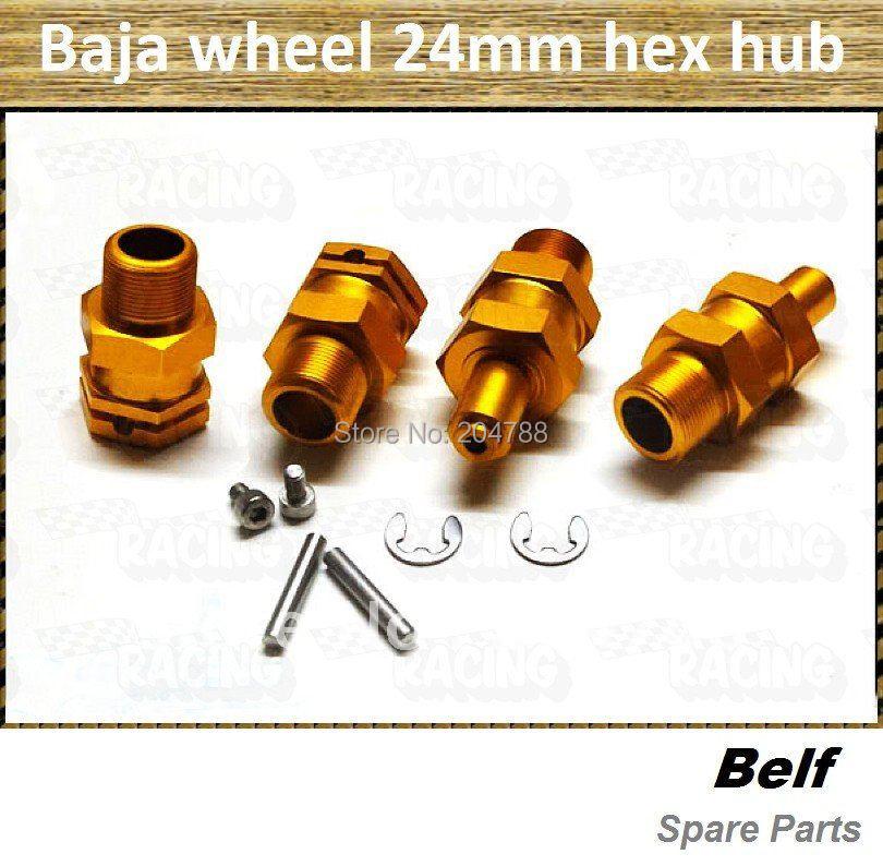 Promotion!! baja wheels , baja 5b, baja 5sc parts, Alloy upgrade 24mm hex hub(4pcs/set) + free shipping(China (Mainland))
