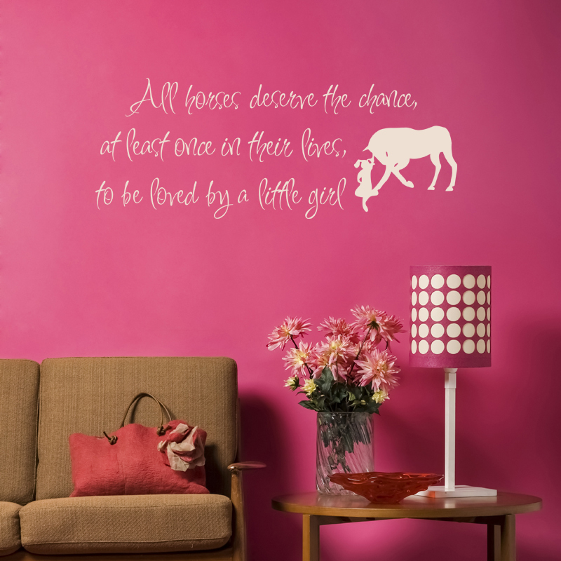 Love horse quotes reviews online shopping love horse for Cowboy wall mural
